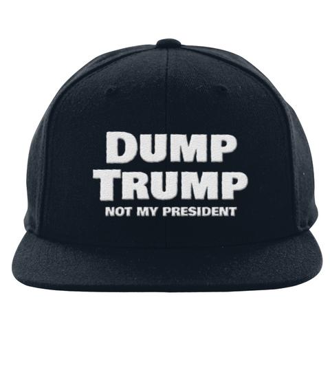 Dump Trump Hat Navy T-Shirt Front