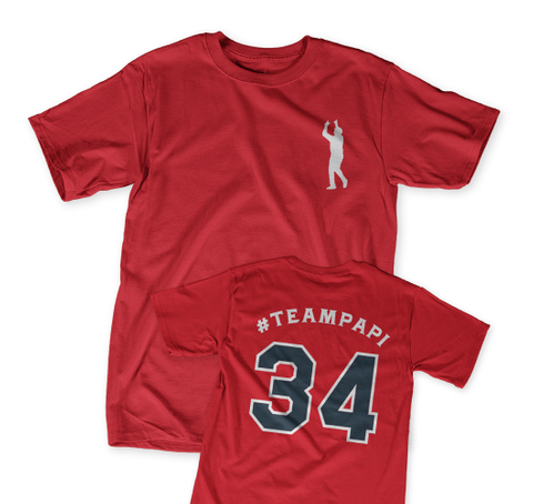 #Teampapi 34 Classic Red T-Shirt Front