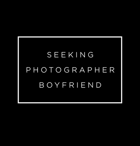 Seeking Photographer Boyfriend Black T-Shirt Back