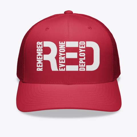 R.E.D Friday Embroidered Hat Red T-Shirt Front