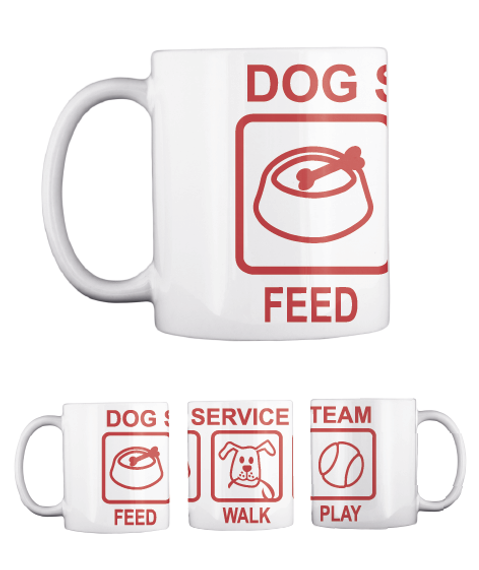 Dog Feed Dog Feed Service Walk Team Play White T-Shirt Front
