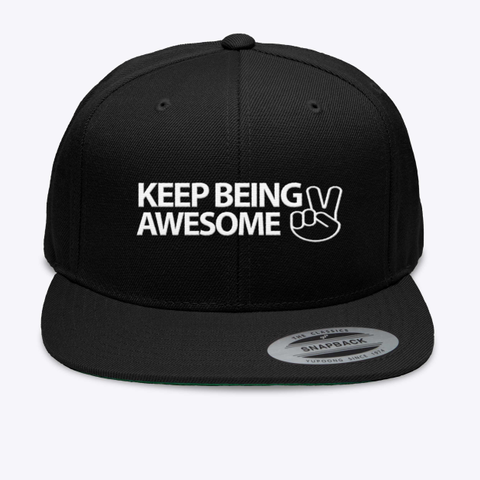 The Aspie World Keep Being Awesome Hat Black T-Shirt Front