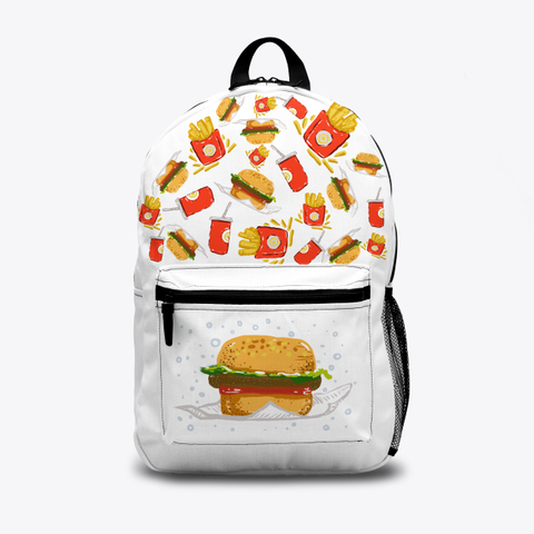 Retro Hamburger Meal Backpack! Standard T-Shirt Front
