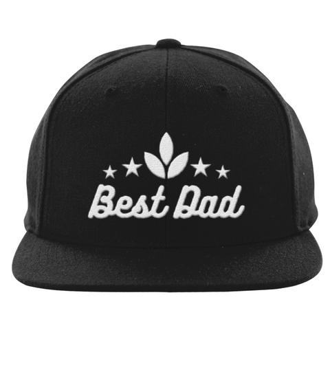 Best Dad Star Black T-Shirt Front