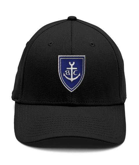 Brookville Yacht Club   Crest Hat Black T-Shirt Front