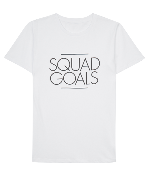 Squad Goals White T-Shirt Front
