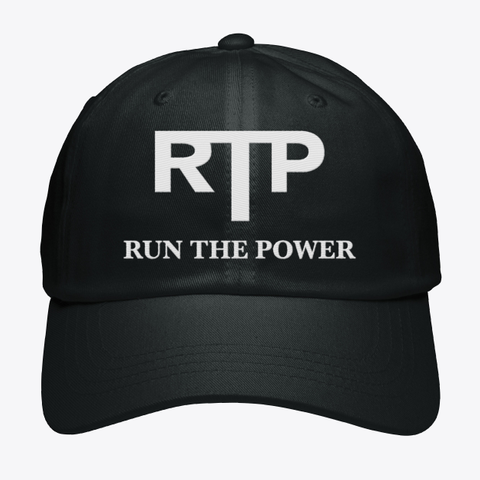 Rtp Run The Power Black T-Shirt Front
