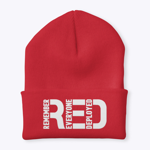 Remember Everyone Deployed Red T-Shirt Front