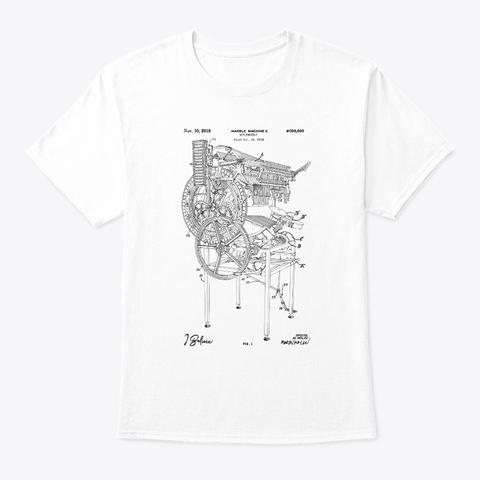 "Marble Machine X ""I Believe""   Blueprint Organic Tee   White White T-Shirt Front"