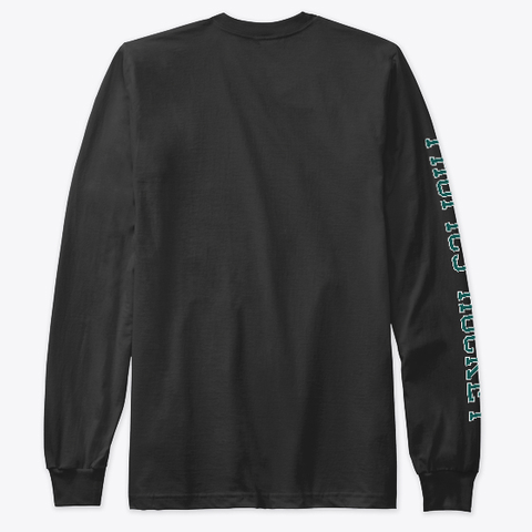 Tropics Hockey Sleeve Print Black Long Sleeve T-Shirt Back