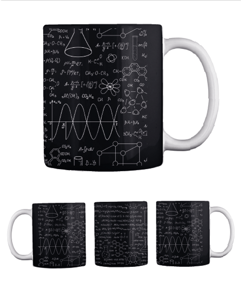 Chemistry Mug   Limited Edition Black T-Shirt Back