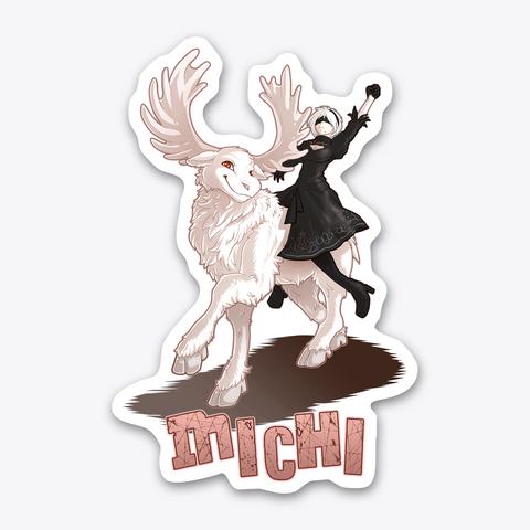 Michi The White Moose Sticker Standard T-Shirt Front