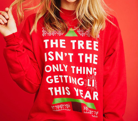 Merry Litmas Deep Red  T-Shirt Back