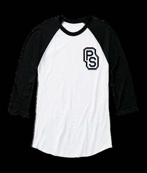 Ps White/Black  T-Shirt Front