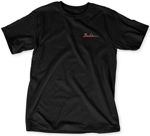 Balm. Black T-Shirt Front