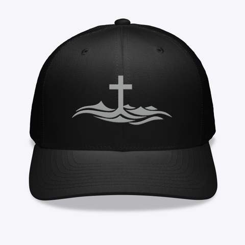 Above Inspiration Hat Black T-Shirt Front