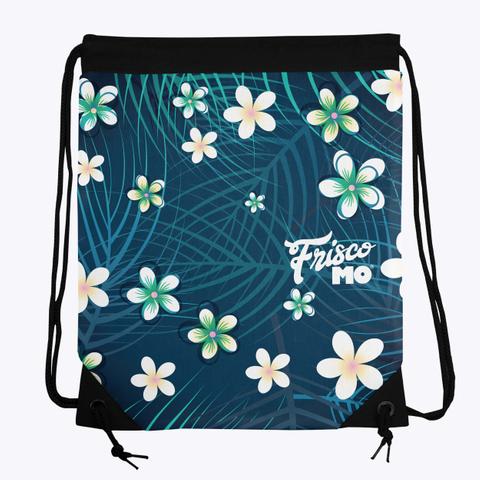 Plumeria Palms Drawstring Bag Standard T-Shirt Front