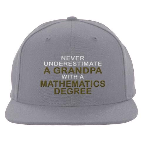 Math Degree Grandpa Hat Silver T-Shirt Front