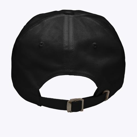 Rhode Island State Hat  Black T-Shirt Back