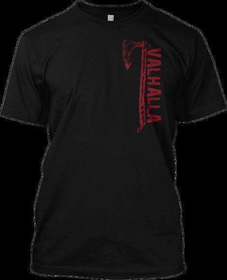 American Viking Black T-Shirt Front