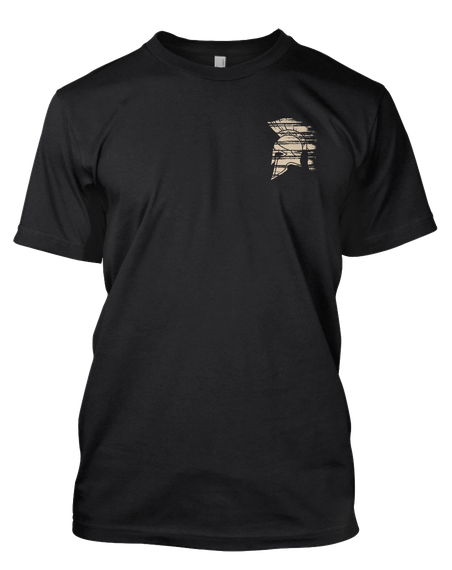 We Are All That Stands! Black T-Shirt Front