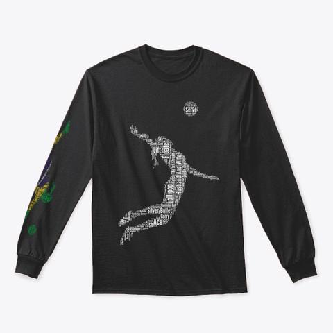 Volleybragswag Jump Serve Dig Bra Libero Black T-Shirt Front