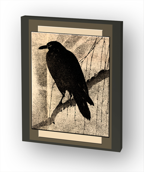 Wise Crow Canvas Print Standard Camiseta Front
