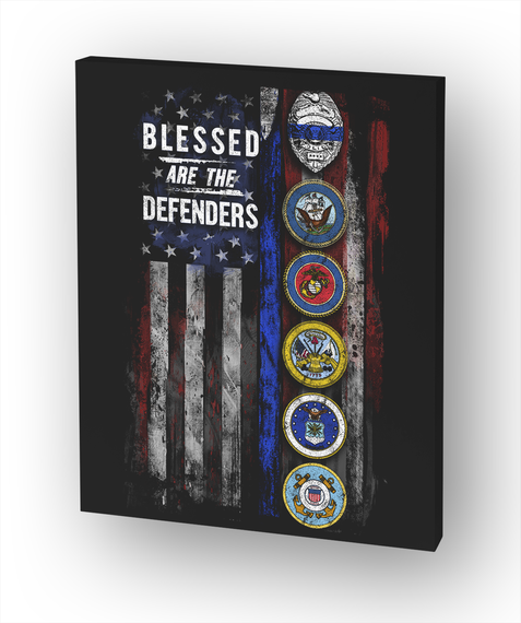 Blessed Are The Defenders Canvas White Maglietta Front