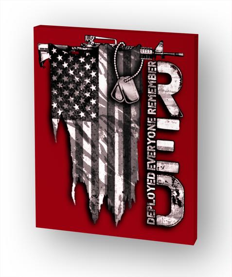 R.E.D Distressed Flag White Camiseta Front