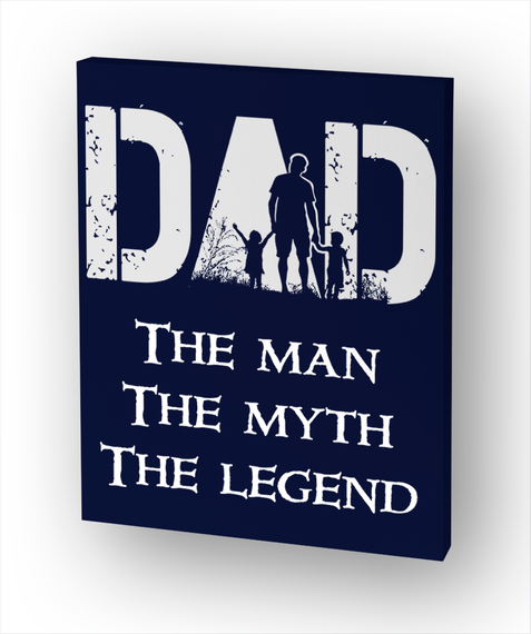 Dad The Man The Myth The Legend Standard áo T-Shirt Front