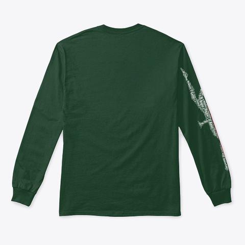 Volleybragswag Dig Words Pol Libero  Forest Green T-Shirt Back