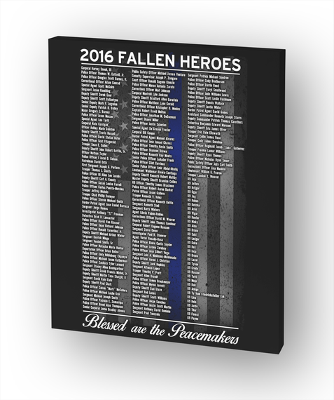 Police: 2016 Fallen Heroes White T-Shirt Front