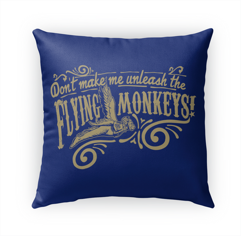 Flying Monkeys Outdoor Throw 18x18 White T-Shirt Front