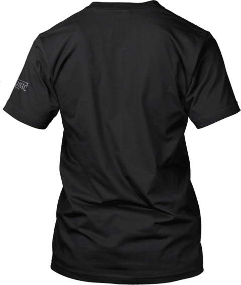 Musician Black T-Shirt Back
