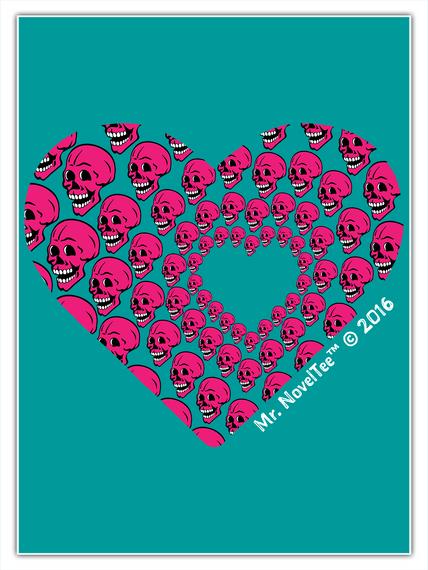 Skull Of Hearts Standard Camiseta Front