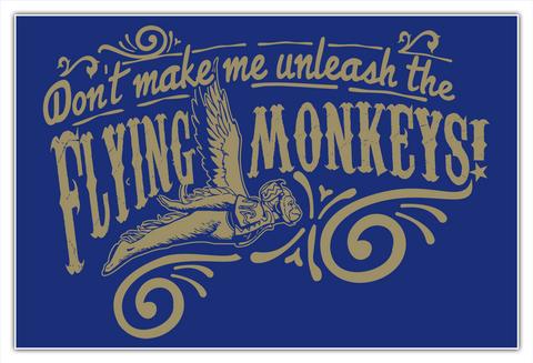 Flying Monkeys Poster 24x36 White T-Shirt Front