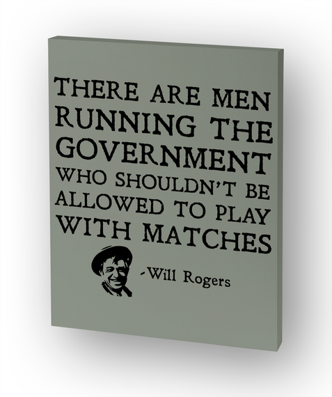 There Are Men Running The Government... White T-Shirt Front