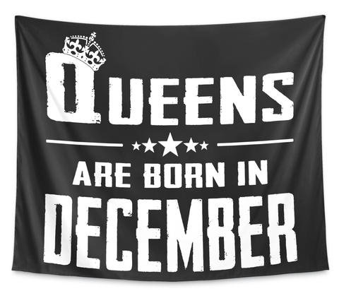 Queens Are Born In December White T-Shirt Front