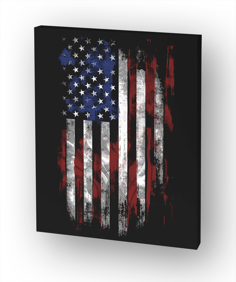 American Flag White T-Shirt Front