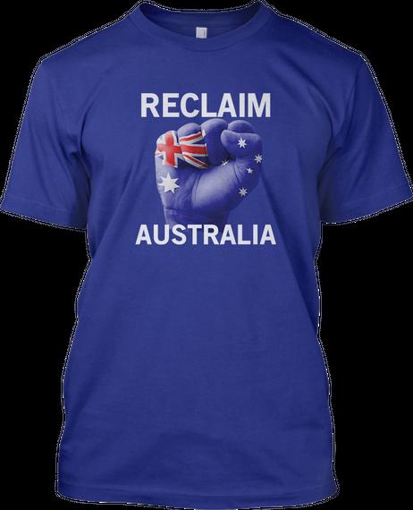 Reclaim Australia Deep Royal T-Shirt Front