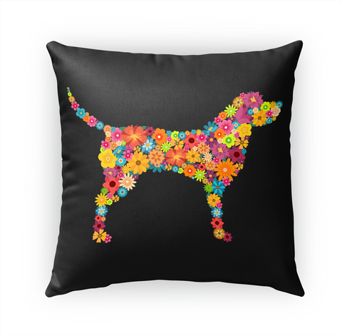 Labrador Retriever Flower Pillow Standard T-Shirt Front