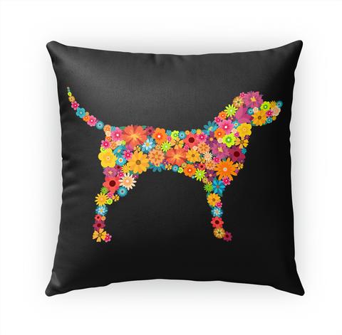 Labrador Retriever Flower Pillow Standard T-Shirt Front