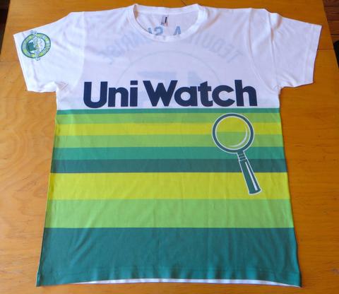 Uniwatch Tequila Sunrise White T-Shirt Front