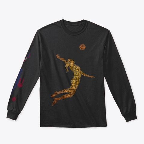 Volleybragswag Jump Serve Dig Srb Libero Black T-Shirt Front