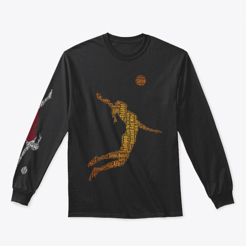 Volleybragswag Jump Serve Dig Jpn Libero Black T-Shirt Front