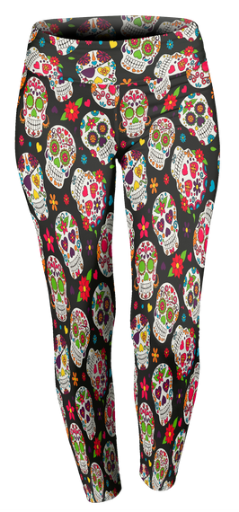 f7f04602c Day Of The Dead Skull Leggings Products from www.DerbyGirlsRock.com ...