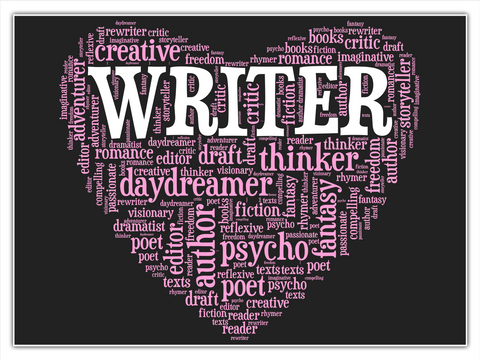 Creative Writer Storytellers Romance Editor Daydreamer Author Fantasy Fiction Psycho Poet White T-Shirt Front