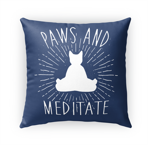 Paws And Meditate Standard Camiseta Front