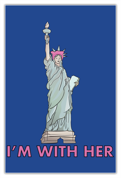 Statue Of Liberty Pussyhat Poster White T-Shirt Front