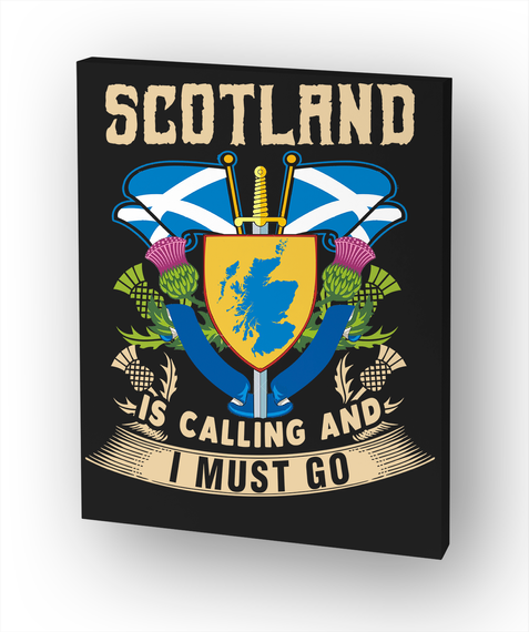 Scotland Is Calling And I Must Go. White Camiseta Front